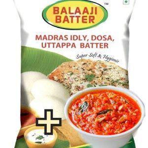 Idli Batter + Tomato Chutney